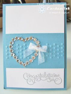 Handmade Engagement Card ... Blog: EnchantINK ... Stampin' Up! - Well Scripted