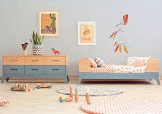 Cesto de tela ideal tanto para decorar una habitación infantil, como un salón, recibidor o una cocina - Minimoi (@nobodinoz)