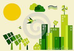 City Sustainable Development Concept Illustration