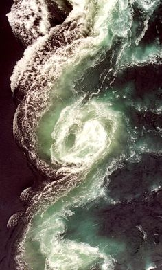 Maelstrom of Saltstraumen, Norway  Massively powerful tidal action 30km southeast of Bodo, Norway, creates the world's strongest maelstrom.