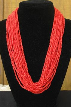 Seed Bead Necklace. This would be cute with a loose white top...