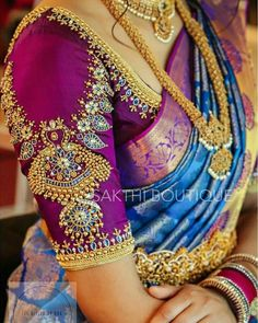 Latest Trending Silk Saree Blouse Designs To make it easier f. - Latest Trending Silk Saree Blouse Designs To make it easier f… – Latest - Indian Blouse Designs, Blouse Back Neck Designs, Wedding Saree Blouse Designs, Pattu Saree Blouse Designs, Hand Work Blouse Design, Stylish Blouse Design, Half Saree Designs, Fancy Blouse Designs, Pattu Sarees Wedding