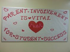 Parent involvement board I made for my son's school