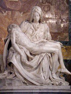 La Pieta (Michelangelo) behind glass unfortunately :(  - St. Peter's Basilica - Vatican City