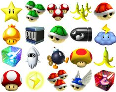 items from mario kart!