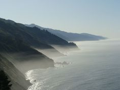Big Sur, California Coast Enveloped in Fog
