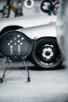 The Luftgkühlt Shell Chair features Deus Ex Machina's in-house scribbler Carby Tuckwell's signature flowing lines. The Aircooled Arm Shell Chair..