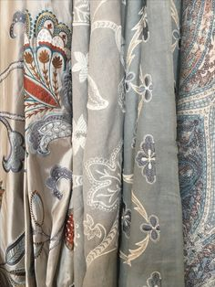 Fabric lengths from Colefax & Fowler furnishing the fabric library