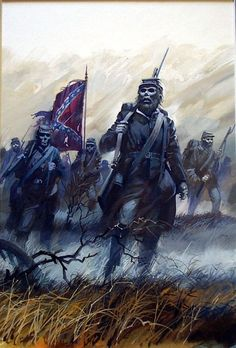confederate ghost | Confederate Ghosts (Original) art by Andrew Howat Archive · Civil War ...