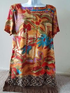 Vintage St. Tropez Dress West Carole Little Size 14 Short Sleeve With Lining  #CaroleLIttle
