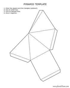 printable 3D pyramid template
