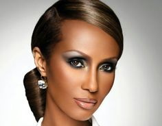 Iman :) Love the hair and makeup. Glamourous & classy