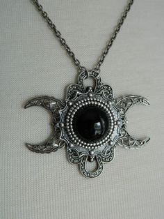 NYX  Triple Moon Goddess Necklace by Crow Haven by CrowHavenRoad