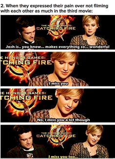 Jennifer Lawrence and Josh Hutcherson...i cried when i read this...