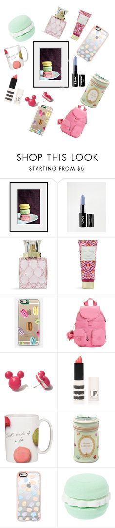 """Eat a macaroon"" by alex-morgan-princess ❤ liked on Polyvore featuring beauty, NYX, Vera Bradley, Casetify, Kipling, Topshop, Kate Spade and Ladurée"