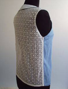 'So, Zo...': Refashion Friday Inspiration: Lace Back Denim Shirt/Blouse