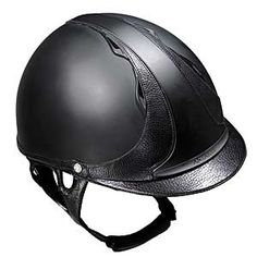 """The creative designers at Antares Saddlery release """"The Helmet"""" where tradition meets sport! Complete ventilation keeps air flowing through the vents, keeping you cool and comfortable.Innovative rubber shell finishing with leather accents."""
