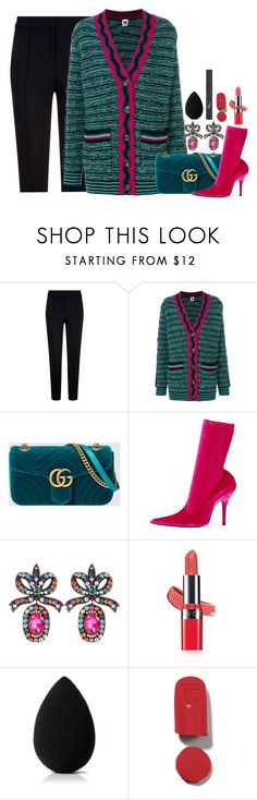 """""""Untitled #2714"""" by seventeene ❤ liked on Polyvore featuring Escada Sport, M Missoni, Gucci, Balenciaga, Avon, beautyblender and Christian Dior"""