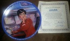 Star Trek Collector Plate - Uhura  on Etsy