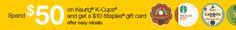 Georgine Saves » Blog Archive » Good Deal: Staples Buy $50 Keurig K-Cups Get $10 Gift Card