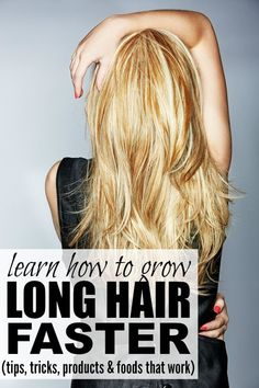 Whether you have short hair or medium length hair, hair with layers or hair with bangs, or just want to grow your long hair that much longer, you will LOVE LOVE LOVE this collection of tutorials that will teach you how to grow long hair FAST! Growing Long Hair Faster, Longer Hair Faster, Grow Long Hair, Grow Hair, Diy Hairstyles, Pretty Hairstyles, Updo, Natural Hair Styles, Short Hair Styles