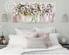 Great painting idea – Ekaterina Sekeroz – Join the world of pin Large Painting, Tole Painting, Pictures To Paint, Art Pictures, Shabby Chic Painting, Spring Painting, Abstract Canvas Art, Rose Art, Decor Crafts