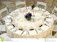 Wedding Banquet Table Settings