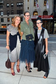 Britney Crangi Jenna Lyons and Haidee FindlayLevin attend The New York Times Celebration of Bill Cunningham at Carnegie Hall on October 17 2016 in...
