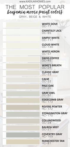 Interior Paint Colors, Paint Colors For Home, House Colors, Light Grey Paint Colors, Light Paint Colors, Kelly Moore Paint Colors Interiors, Griege Paint Colors, Best Bathroom Paint Colors, Most Popular Paint Colors