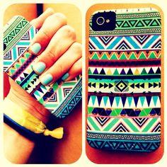 My phone case:) #tribal #phone #case #iphone #cute