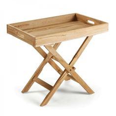 Mesa plegable Xtray (92€), una preciosa mesita plegable de madera de teka, ideal para servirle el desayuno a papá en su día.