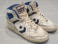 1990s 80s Converse Vintage Cons Leather Basketball High Tops Mens Size 8 5 | eBay