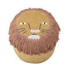 Bloomingville Cute Yellow Lion Pouf - Beaumonde Safari Nursery, Animal Nursery, Jungle Safari, Bean Bag Pouffe, Scandinavian Kids Rooms, Jungle Room, Lion Design, Cute Lion, Rainbow Decorations