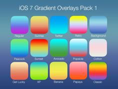 Jony Ive's gradients pack. Free download. Credit: @Agapov