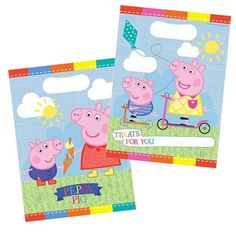 Pink Peppa Pig Card Food Box Party Birthday Lunch Snack Treat Boxes Loot Gift