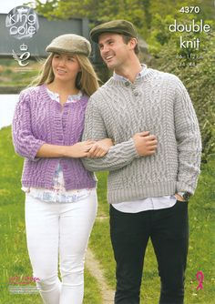 d5d7ed05505 King Cole Double Knit Pattern - Ladies   Mens Cardigan   Sweater (4370)