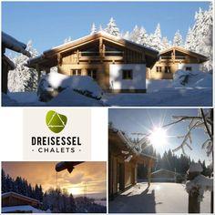 Drei Luxus-Berghütten im bayerischen Wald