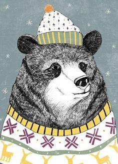 Villapaita varmistaa sen, että Pietarissa viihtyy myös talvella. Russian Bear (by Lu Green)