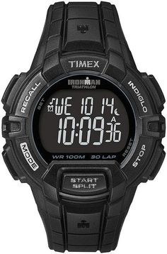 Timex Mens Ironman Rugged Sports Watch - If most of us were to participate in the Iron Man triathlon, most of us would just be happy just to finish -- but you aren't most of us, and. Mens Sport Watches, Watches For Men, Wrist Watches, Timex Ironman Triathlon, Rugged Watches, Stylish Watches, Luxury Watches, Timex Indiglo, Timex Watches