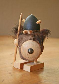 Wooden Viking figure