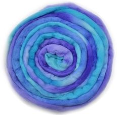 Hand Dyed Australian Merino Top Roving in Purple Opal | Shop Wool Online #feltingsupplies #bluewool #spinningwool #needlefeltingool