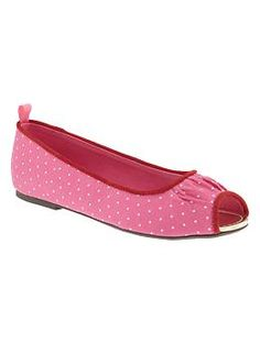 Peep toe ballet flats, Girls Shoes