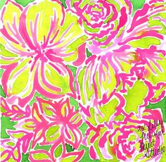 50 shades of pink and green #lilly5x5