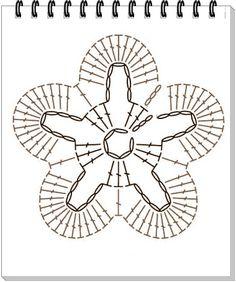 Αποτέλεσμα εικόνας για crochet flower tutorial schema