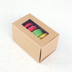 Independent Macaron Boxes Macarons Box For 12 Macaroon Packaging Boxes With Clear Window Kitchen, Dining & Bar Baking Accs. & Cake Decorating