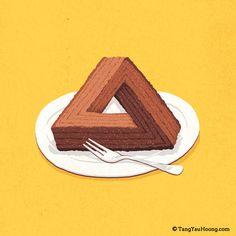 Impossible triangle cake.