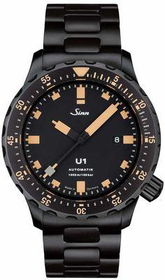 Sinn S E: Taucheruhr im Retro-Stil Casual Watches, Cool Watches, Watches For Men, Black Watches, Sinn Watch, Casio Watch, Luxury Watches, Rolex Watches, Rolex Models