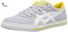 Onistuka Tiger Aaron, Chaussures de basket-ball mixte adulte - Blanc (1001-Soft Grey/White), 37 EU (3.5 UK) - Chaussures onitsuka tiger by asics (*Partner-Link)