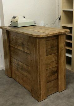 Scaffold board Shop counter / bar