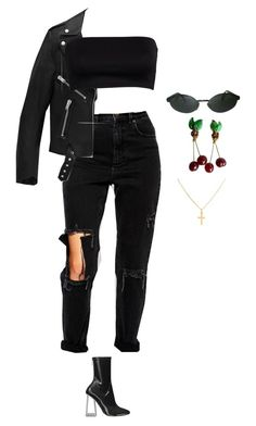 """Black swan"" by fewlings ❤ liked on Polyvore featuring Persol, ASOS, Chanel, Yves Saint Laurent, Sterling Essentials and Christian Dior"